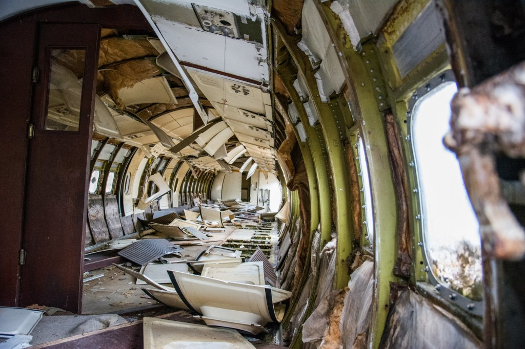broken airplane vietnam